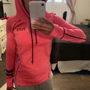 Hot pink 'Pink' workout hoodie Size M